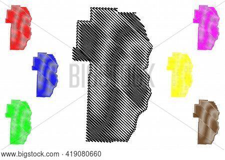 Jefferson County, Ohio State (u.s. County, United States Of America, Usa, U.s., Us) Map Vector Illus