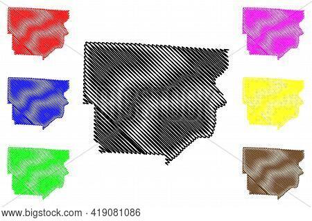 Monroe County, Ohio State (u.s. County, United States Of America, Usa, U.s., Us) Map Vector Illustra