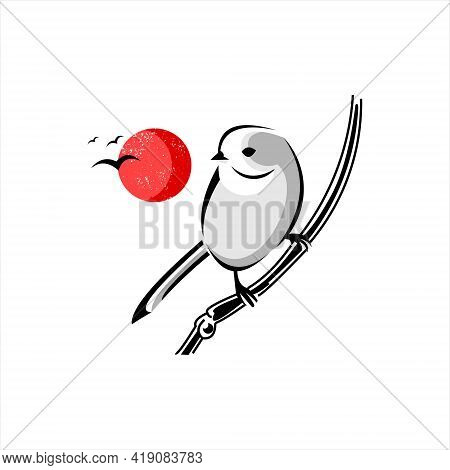 Robin Bird Logo Design Cute Illustration Animal Vector Art And Nature Graphic Element Template And I