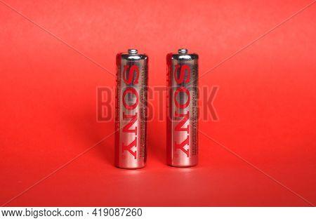 Tokyo - Circa April 2021: Sony Aa Battery