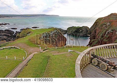 Rocky Cove On Burgh Island In Devon, England