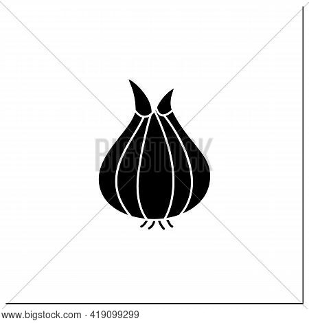 Onion Glyph Icon. Widely Cultivated Species For Dishes.improve Food Taste. Dietary Food. Vegetarian,