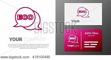 Logotype Line Banner, Label, Tag, Logo For Eco Green Healthy Food Icon Isolated On White Background.