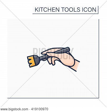 Brush Color Icon. Silicone Basting. Spread Butter, Oil Or Glaze On Food. Cooking Utensils. Kitchen T