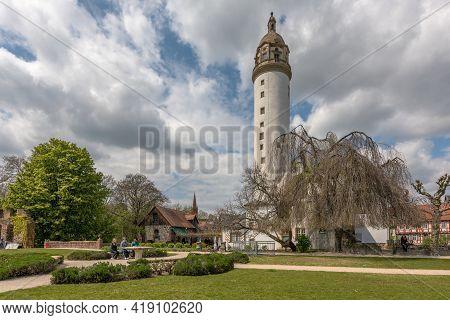 Medieval Hoechster Castle In Frankfurt Hoechst, Germany