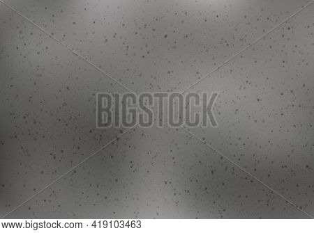 Abstract Black Small Tiny Dots Grainy Dust Scattered Spray Texture On Gray Background And Texture. V