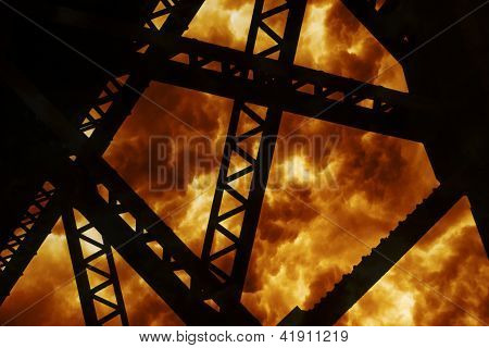 Steel Structure Explosion