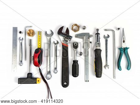 Tools For Construction And Household Repairs In The House.