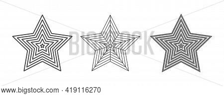 Star For A Stamp Or Stencil For Scrapbooking And Decorative Embossing, A Template For Die Cutting. F