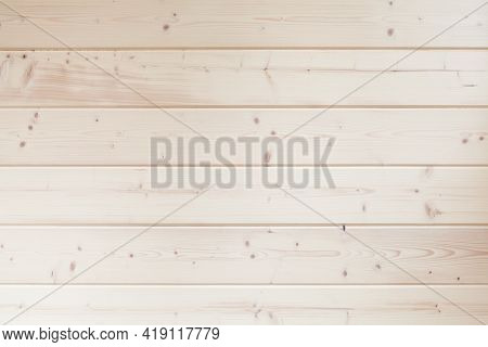 Wooden Wall Made Of Bleaching Pine Wood Planks, Background Photo Texture