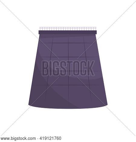 Oil Industry Flat Composition With Oil Refinery Plant Pipe On Blank Background Vector Illustration