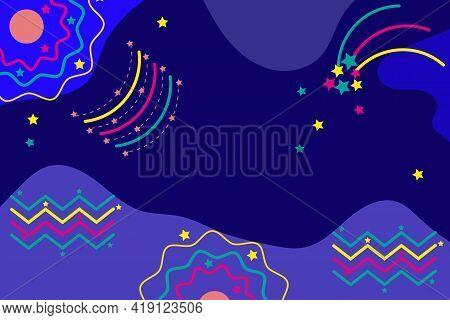 Set Of Pattern Of Celestial And Optical Phenomena, Comet, Meteor, Northern Lights, Aureole, Rainbow