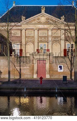 December 17, 2020, Leiden, Holland, Facade Of The City Museum Of History And Fine Art De Lakenhal