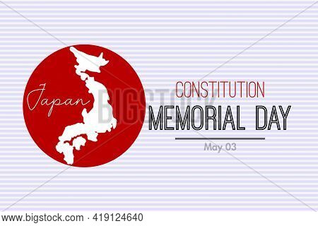 Japanese Constitution Memorial Day. Concept Background With The Japanese Flag And Constitution Book