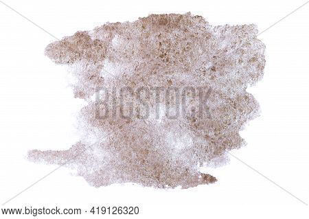 Watercolour Pattern. Abstract Paint Watercolor Texture Or Splash Ink Stain For Design Isolated On Wa