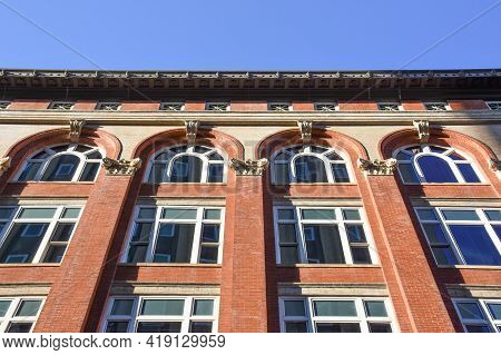 Ornate Architecture In Downtown Knoxville, Tennessee On A Bright Fall Day