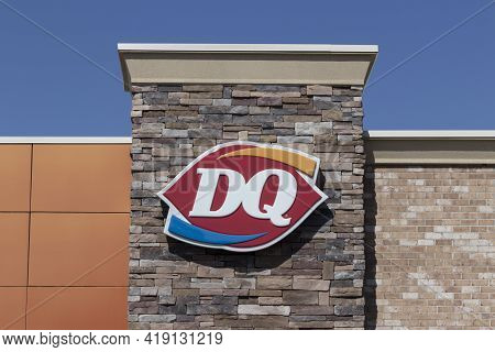 Westfield - Circa May 2021: Dairy Queen Restaurant. Dq Is A Subsidiary Of Berkshire Hathaway.