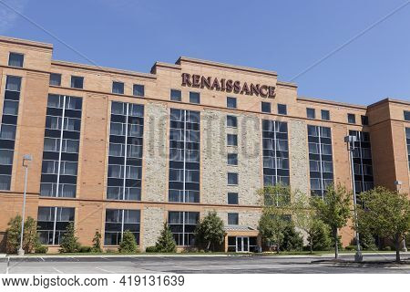Carmel - Circa May 2021: Renaissance Hotels Property. Renaissance Hotels Is Part Of The Marriott Int