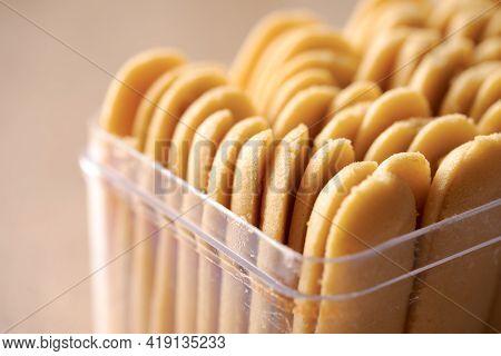Kue Lidah Kucing Or Katte Tong Biscuit. Islamic Cookies Biscuit For Eid Mubarak Tradition