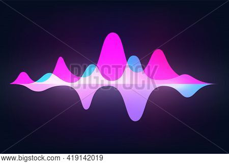 Spectrum Sound Wave. Frequency Abstract Soundtrack Waveform. Voice Graph Signal. Minimal Audio Track