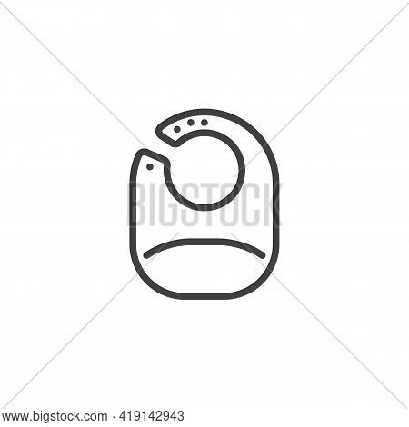 Baby Bib Line Icon. Linear Style Sign For Mobile Concept And Web Design. Baby Feeding Bib Outline Ve