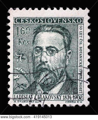 ZAGREB, CROATIA - SEPTEMBER 18, 2014: Stamp printed in Czechoslovakia from the