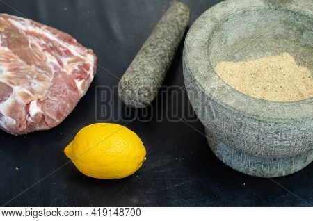Homemade Capicola (coppa). Dry-cured Pork Loin Step-by-step Recipe. Salted Meat, Lemon And Mortar Wi