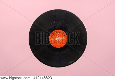 Old Vinyl Record By Electrecord For Ussr Export. Electrecord Is A Romanian Record Label That Was Fou