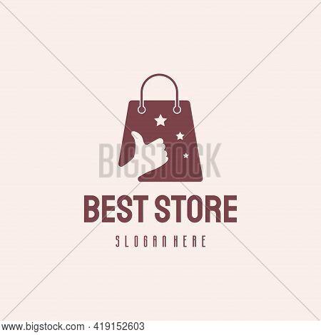 Best Store Logo Hipster Retro Vintage Vector Template, Online Shop Logo