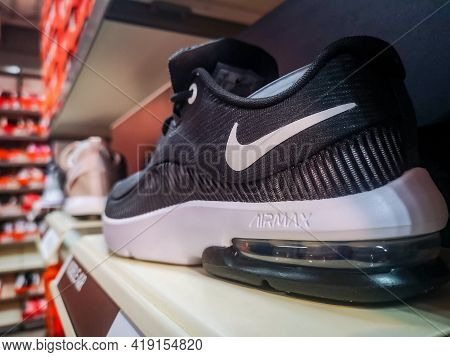 Nike Air Max Men's Sneakers With Soft Soles In The Nike Brand Store Of Clothing And Footwear 01.05.2