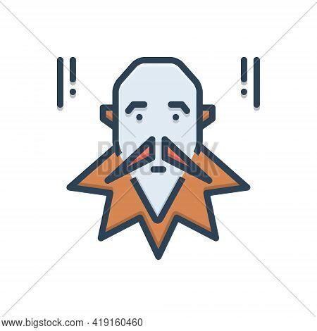 Color Illustration Icon For Cervantes Philosophers Kafka Writers Socrates Author