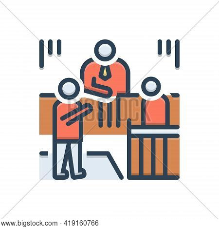 Color Illustration Icon For Circumstance Situation Circumstances Actualities Circs