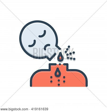 Color Illustration Icon For Decapitate Beheading Kill Slaughter Murder Decapitation