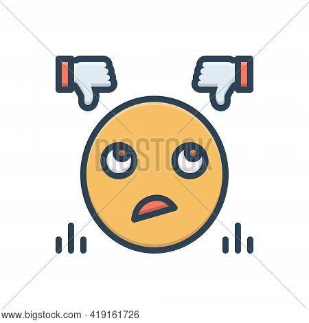 Color Illustration Icon For Criticize Judge  Judgement Emoji