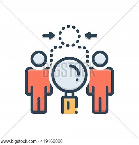 Color Illustration Icon For Disappearance Evanescence Invisibility Dissipation Annulment