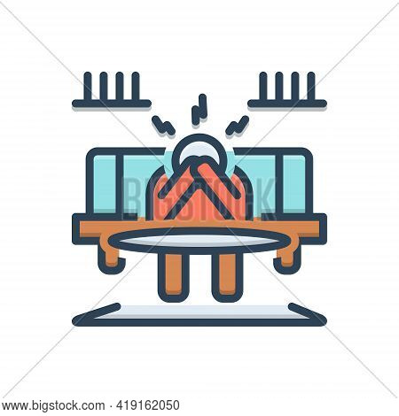 Color Illustration Icon For Discouraged Disincentive Disheartened Hopeless Stressed Tired