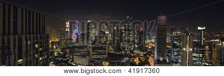 Singapore Skyscrapers In Central Business District