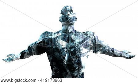Complex Human Behavior and Mental Health Research 3d Render