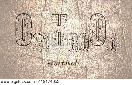 Steroid Hormone Cortisol. Stone Material Grunge Texture