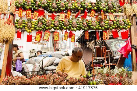 Chinatown in Manila getting ready for new year
