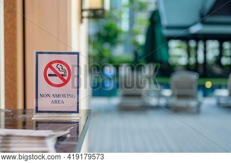Smoking Sign Area. World No Tobacco Day.