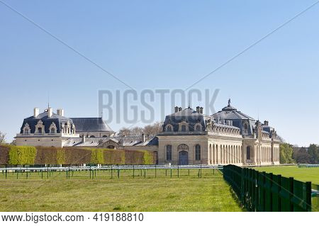 Chantilly, France - April 25 2021: The Great Stables, Home Of The Living Museum Of The Horse (french