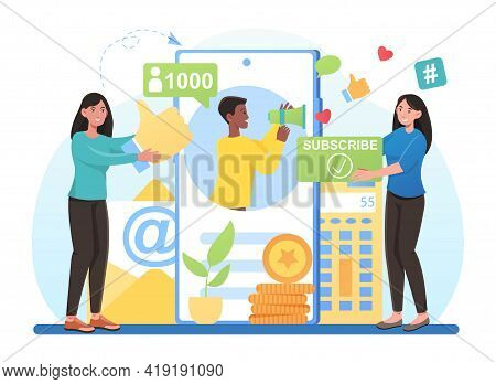 Engaging Content, Blogging, Media Planning, Promotion In Social Network. Social Media Influence And