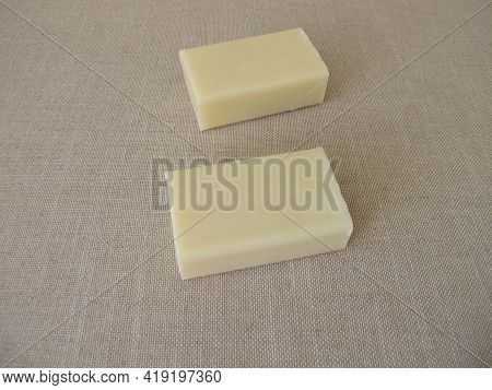 A Soap Bar Made From Natural Vegetable Oils
