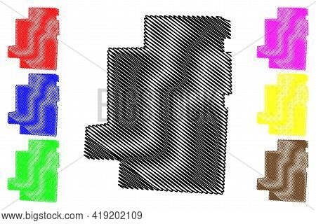 Morrow County, Ohio State (u.s. County, United States Of America, Usa, U.s., Us) Map Vector Illustra