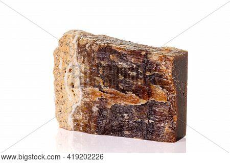Macro Stone Mineral Onyx Marble On White Background