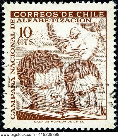 Chile - Circa 1966: A Stamp Printed In Chile From The