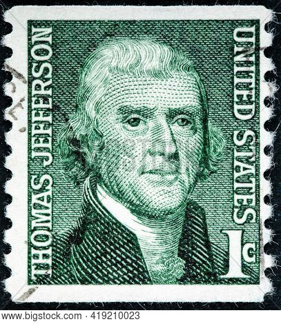 United States Of America - Circa 1968: A Used Postage Stamp From The United States Of America Dedica