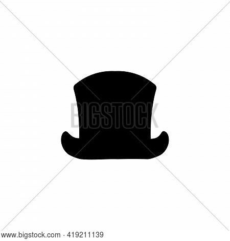 Silhouette Cylinder Traditional Classic Headdress Hat. Illustration Graphics Icon Vector