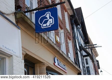 The Nationwide Sign Hanging From A Building Society In Henley In Oxfordshire, Taken On The 29th Marc